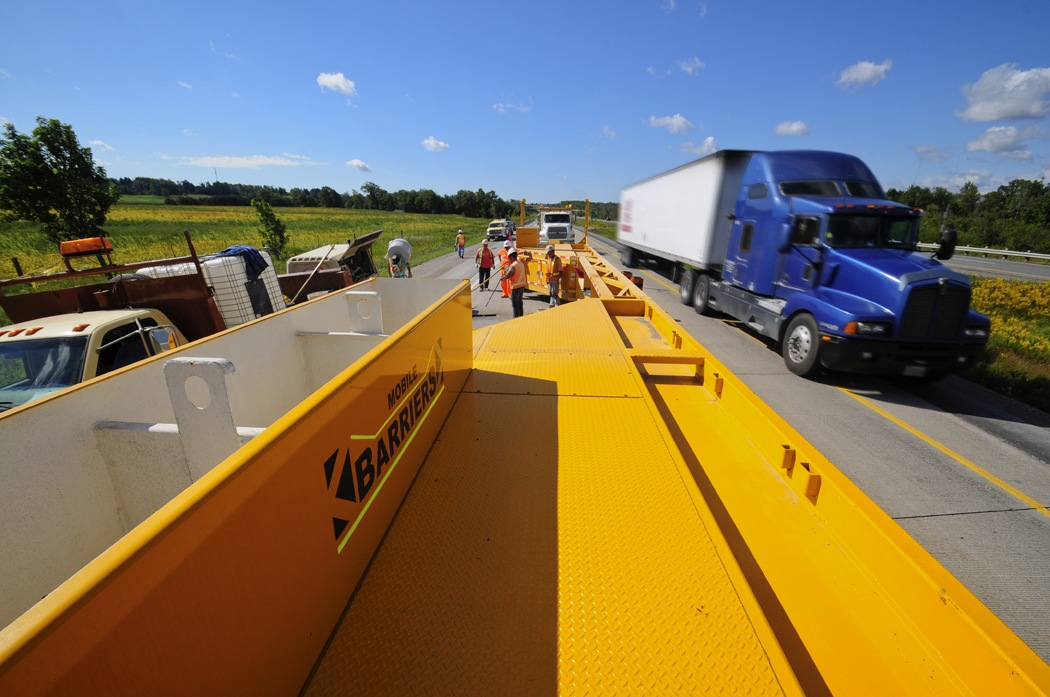 Mobile Barriers MBT-1, work zone safety, positive protection, barrier systems