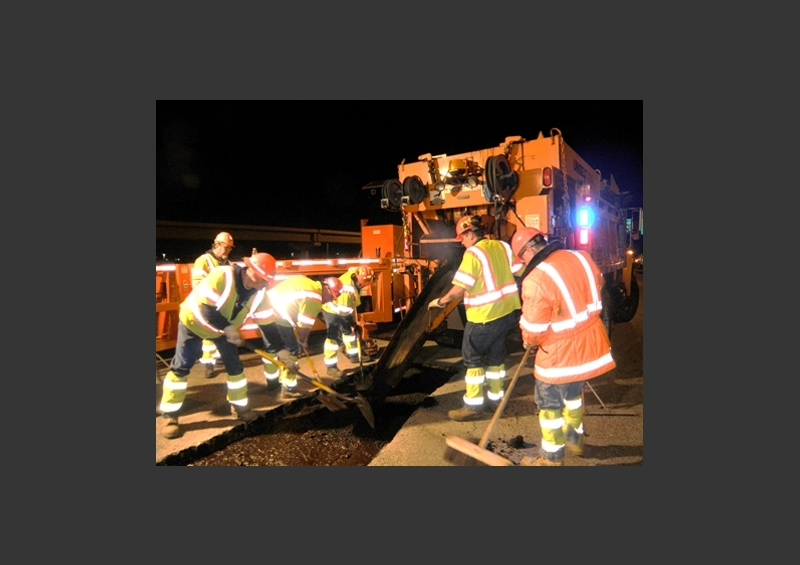 Asphalt Repair with Truck-mounted Hot Box and MBT-1 Work Zone