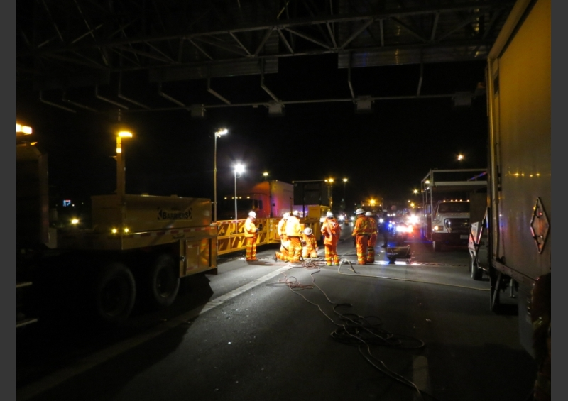 TxDOT Night MBT-1 Work Zone