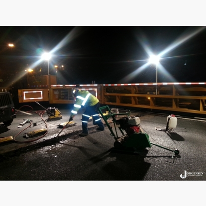 Asphalt Maintenance and Repair MBT-1 Workzone with Integrated High Lumen Work Lights