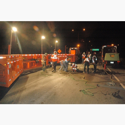 Bridge Expansion Joint Repair MBT-1 Work Zone