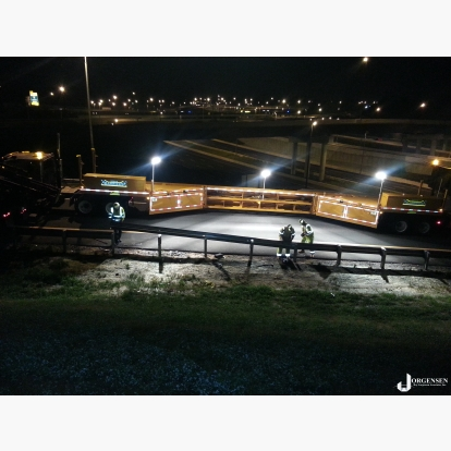 Guardrail Replacement MBT-1 Work Zone with Integrated High Lumen Work Lights