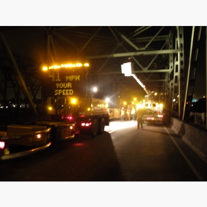 Night Bridge Workzone