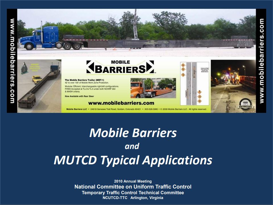 MUTCD Drawings & Guidance - Mobile Barriers MBT-1®